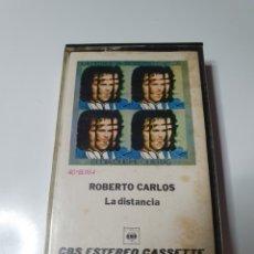 Casetes antiguos: CASETE DE ROBERTO CARLOS, LA DISTANCIA.. Lote 221982963
