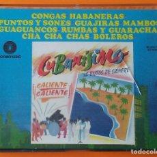 Cassetes antigas: CUBANISIMO 62 EXITOS DE SIEMPRE FONOMUSIC 1989 ESTUCHE 2 CASETTES. Lote 222947148