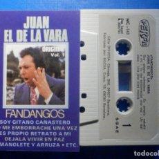 Cassette antiche: CINTA CASSETTE - JUAN EL DE LA VARA - FANDANGOS VOL. 1 - PERFIL 1985. Lote 222996263
