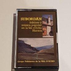 Casetes antiguos: SUBORDÁN / FOLKLORE Y MÚSICA POPULAR EN LA VAL D'ECHO (HUESCA) / MC-SIT-1981 / IMPECABLE / MUY RARO.. Lote 223342662
