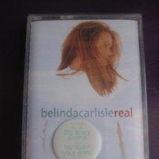 Cassettes Anciennes: BELINDA CARLISLE - REAL - CASETE VIRGIN 1993 PRECINTADA - POP 80'S 90'S - GO GO'S. Lote 224586051