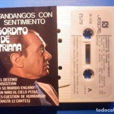 Cassette antiche: CINTA CASSETTE - GORDITO DE TRIANA - FANDANGOS CON SENTIMIENTO - JERCAR 1987. Lote 224900021