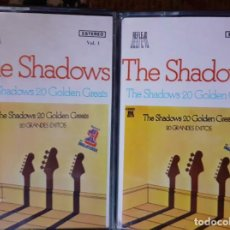 Casetes antiguos: THE SHADOWS 20 GOLDEN GREATS - 2 MUSICASSETTES. Lote 225715985
