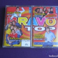 Cassettes Anciennes: BRAVO TOP - DOBLE CASETE 1997 32 EXITOS - PET SHOP BOYS - JAMIROQUAI - ROXETTE - OBK - OASIS - ETC. Lote 225979970