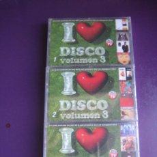 Cassettes Anciennes: I LOVE DISCO VOLUMEN 3 - TRIPLE CASETE BLANCO NEGRO 2000 - ITALODISCO - ELECTRONICA - DISCO POP. Lote 225984595