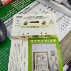 Cassettes Anciennes: JOSÉ LÓPEZ CASETE RECUERDOS 1989 FIRMADA POR EL. Lote 226481085