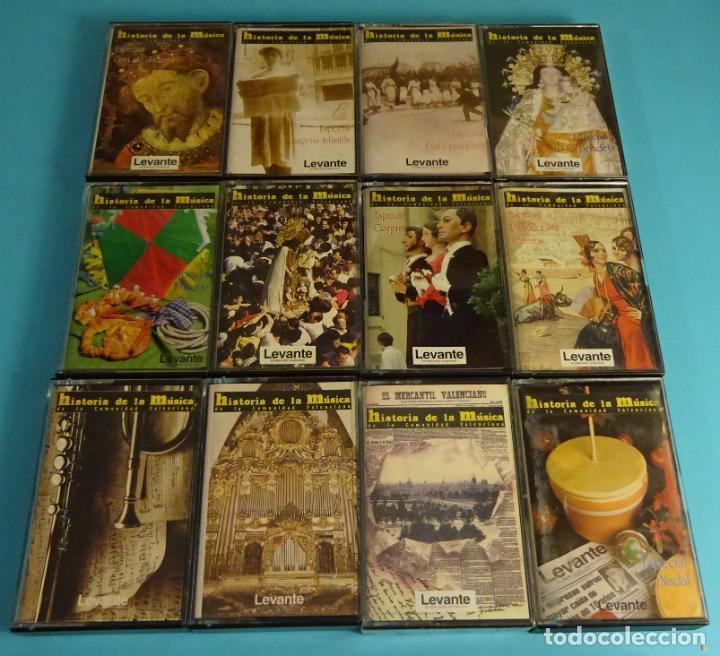 12 CASETES HISTORIA DE LA MÚSICA DE LA COMUNIDAD VALENCIANA. EDITADOS POR LEVANTE (Música - Casetes)