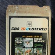 Casetes antiguos: CINTA CASETE CARTUCHO 8 PISTAS - GRANDES EXITOS VICENTE FERNANDEZ -.. Lote 227622101
