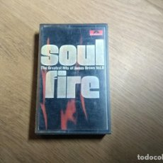 Casetes antiguos: SOUL FIRE THE GREATEST HITS OF JAMES BROWN CASSETTE DEL AÑO 1968. Lote 229900575