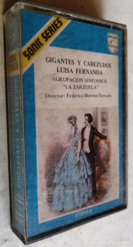 AGRUPACION SINFONICA LA ZARZUELA FEDERICO MORENO TORROBA-GIGANTES Y CABEZUDOS LUISA FERNANDA (Música - Casetes)
