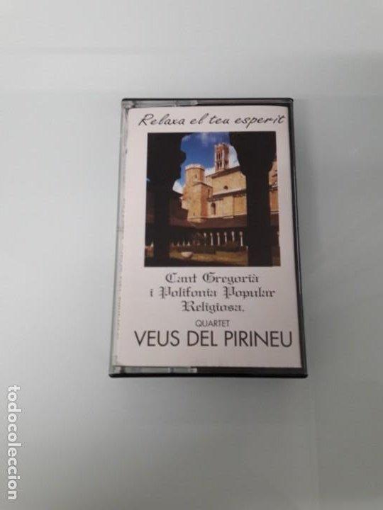 CASSETTE QUARTET VEUS DEL PIRINEU - CANT GREGORIA I POLIFONIA POPULAR RELIGIOSA - CATALUNYA - 1997 (Música - Casetes)