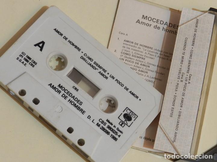 Casetes antiguos: K7 Mocedades Amor de hombre y otros grandes éxitos VERSIONES ORIGINALES cassette - Foto 3 - 233733790