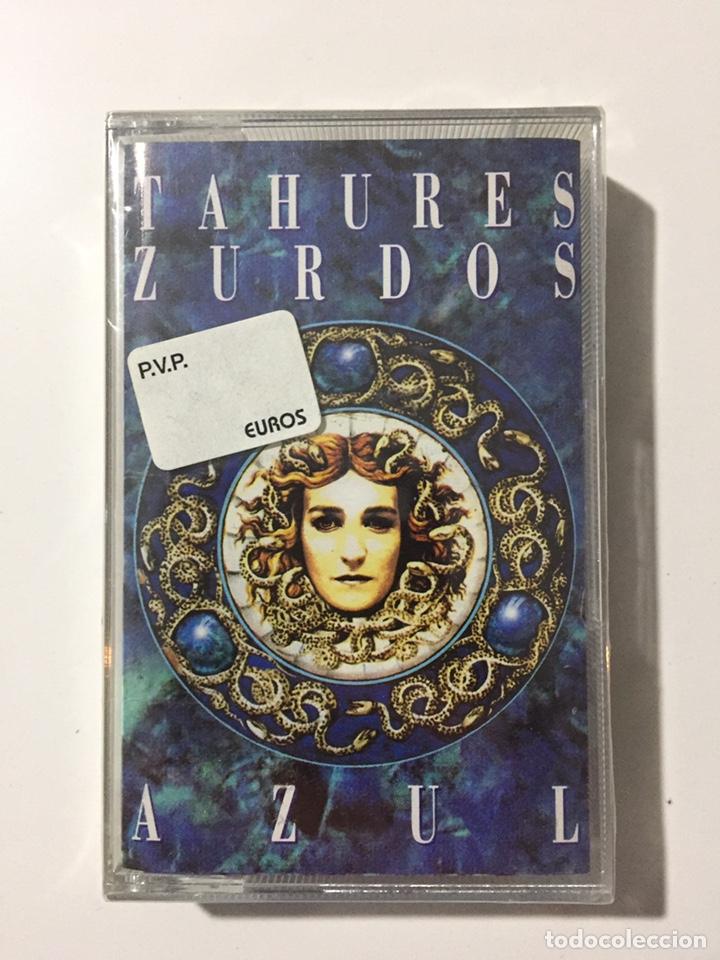 CASSETTE TAHURES ZURDOS - AZUL - PRECINTADO DE FÁBRICA!! SEALED OF!! NUEVO!! NEW!! (Música - Casetes)