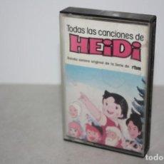 Casetes antiguos: TODAS LAS CANCIONES DE HEIDI. 1982. Lote 235323490