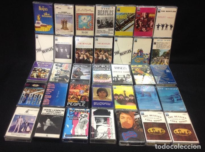 THE BEATLE, LOTE DE 35 CASETES, RINGO, MCCARTNEY, LENNON, TRAVELING, HARRISON, WINGS (Música - Casetes)