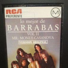 Casetes antiguos: BARRABAS LO MEJOR DE BARRABAS VOL. II CASSETTE SPAIN 1977 PDELUXE. Lote 235806080