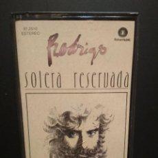 Casetes antiguos: RODRIGO SOLERA RESERVADA CASSETTE SPAIN 1987 PDELUXE. Lote 235808670