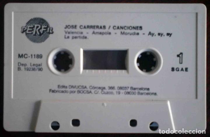 Casetes antiguos: José Carreras - Canciones - Foto 3 - 235833000