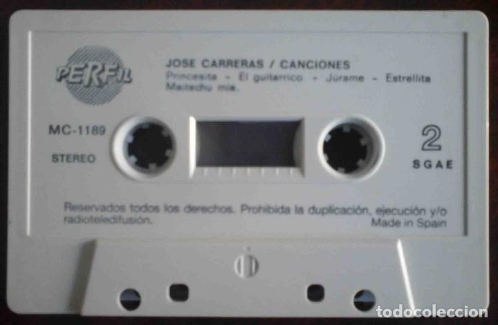 Casetes antiguos: José Carreras - Canciones - Foto 4 - 235833000