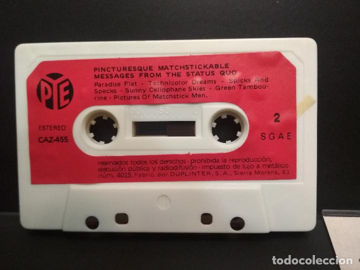 Casetes antiguos: STATUS QUO PICTURESQUE MATCHISTICKABLE CASSETTE SPAIN 1980 PDELUXE - Foto 5 - 235804365