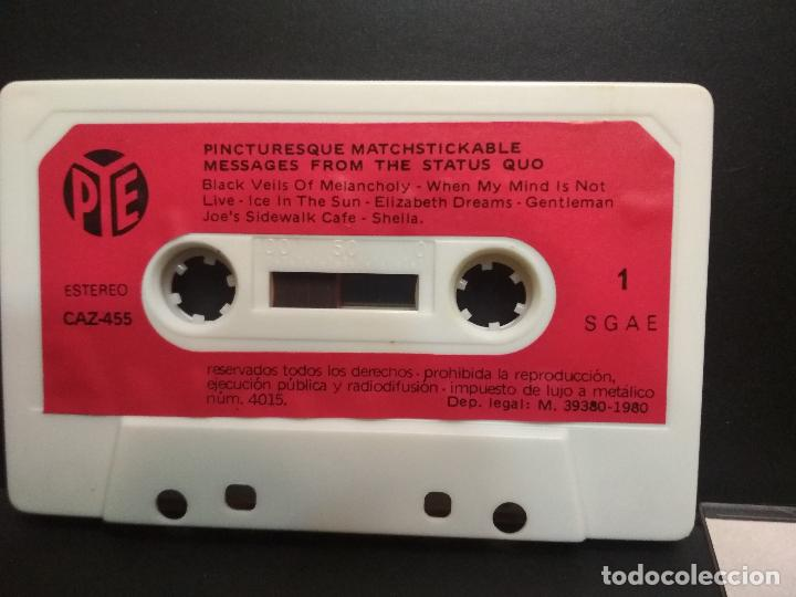 Casetes antiguos: STATUS QUO PICTURESQUE MATCHISTICKABLE CASSETTE SPAIN 1980 PDELUXE - Foto 6 - 235804365