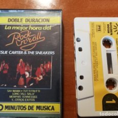 Cassettes Anciennes: LESLIE CARTER AND THE SNEAKERS - LA MEJOR HORA DEL ROCK AND ROLL - GOLDEN HOUR-PYE- 1976 CASETE. Lote 236233600