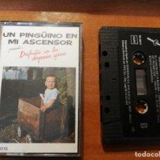 Casetes antiguos: CASETE UN PINGUINO EN MI ASCENSOR DISFRUTAR CON LAS DESGRACIAS AJENAS. Lote 236250180