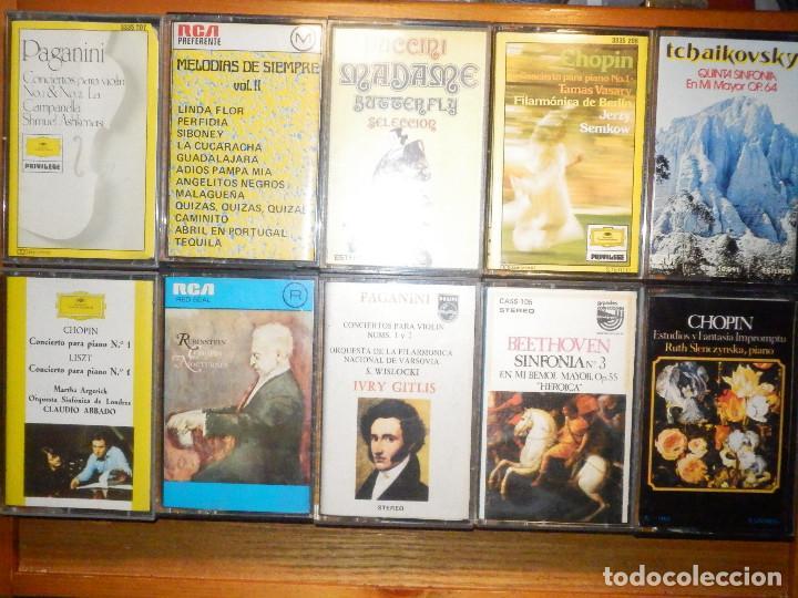 LOTE 10 CINTAS DE CASSETTE - MÚSICA CLASICA - VER FOTOS (Música - Casetes)