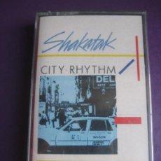 Cassettes Anciennes: SHAKATAK – CITY RHYTHM - CASETE POLYDOR 1985 PRECINTADA - ELECTRONICA FUNK DISCO 80'S. Lote 238189785