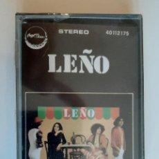 Cassette antiche: LEÑO LEÑO RARO CASSETTE ORIGINAL PRECINTADO NUEVO CHAPA DISCOS CASETE K7 ROSENDO OBUS. Lote 240206520