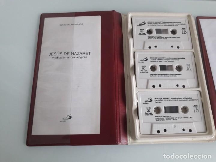 Casetes antiguos: JESÚS DE NAZARET - MEDITACIONES CRISTOLÓGICAS - IGNACIO LARRAÑAGA - 2 ESTUCHES - 6 CASSETTES - 1996 - Foto 3 - 241699965