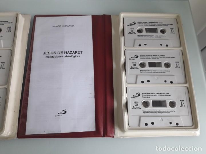 Casetes antiguos: JESÚS DE NAZARET - MEDITACIONES CRISTOLÓGICAS - IGNACIO LARRAÑAGA - 2 ESTUCHES - 6 CASSETTES - 1996 - Foto 4 - 241699965