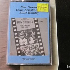 Casetes antiguos: NEW ORLEANS,BILLIE HOLIDAY & LOUIS AMSTRONG. Lote 243923105