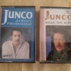 Cassette antiche: LOTE DE 2 CASETES JUNCO. BELLA SIN ALMA, JARDÍN PROHIBIDO.. Lote 243997665