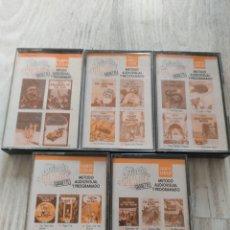 Casetes antiguos: 5 CASSETTES STUDY COMICS TINTIN 1989 EDICIONES DEL PRADO. Lote 244715205