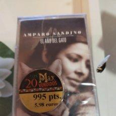 Casetes antiguos: AMPARO SANDINO CASETE EL AÑO DEL GATO 1999 PRECINTADA. Lote 244930935