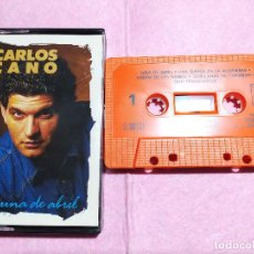 Casetes antiguos: CASSETTE CARLOS CANO – LUNA DE ABRIL - CBS CBS 461024 4 (SE) - SPAIN 1988 (EX+/EX+). Lote 245055795
