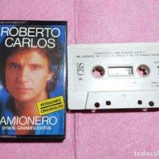Casetes antiguos: CASSETTE ROBERTO CARLOS – CAMIONERO Y OTROS GRANDES EXITOS - CBS 40-15764 (EX/EX). Lote 245057555