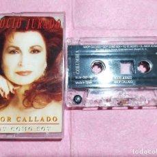 Casetes antiguos: CASSETTE ROCIO JURADO - AMOR CALLADO - COLUMBIA COL 488083 4 - SPAIN (EX+/EX+). Lote 245078250