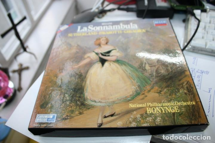 CASETE, CASSETTE OPERA CAJA LA SONNAMBULA BELLINI LIBRETO Y TRES CASETES (Música - Casetes)