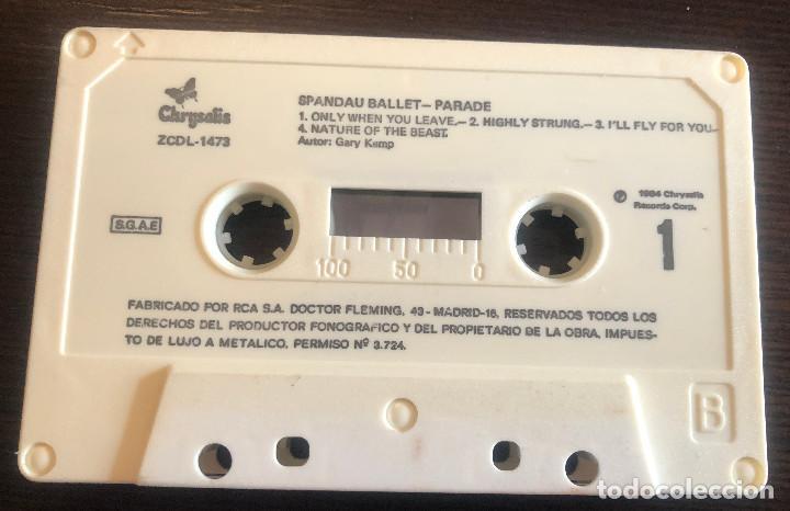 Casetes antiguos: Parade, de Spandau Ballet. Chrysalis. 1984. Cinta original y caja, papel no. - Foto 2 - 245482790