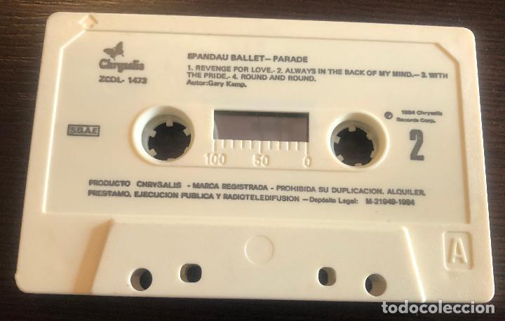 Casetes antiguos: Parade, de Spandau Ballet. Chrysalis. 1984. Cinta original y caja, papel no. - Foto 3 - 245482790