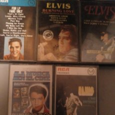 Casetes antiguos: ELVIS PRESLEY 5 CASSETTES. Lote 245647585