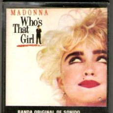 Casetes antiguos: CASSETTE WHOS THAT GIRL MADONNA BANDA DE SONIDO. Lote 245792035