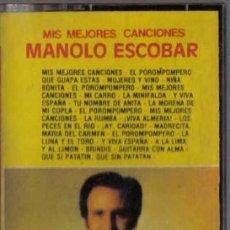 Casetes antiguos: MANOLO ESCOBAR LAS MEJORES CANCIONE S CASSETTE NACIONAL. Lote 245807905