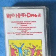 Casetes antiguos: GEORGE MICHAEL MADONNA RED HOT DANCE CASSETTE IMP UK 1992. Lote 245808185