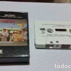 Casetes antiguos: ACDC DIRTY DEEDS DONE DIRT CHEAP CASSETTE USA ANO 1976. Lote 245830330