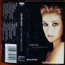 Casetes antiguos: CELINE DION LETS TALK ABOUT LOVE 1997 CASSETTE LEER. Lote 245831165