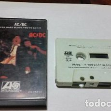 Casetes antiguos: ACDC IF YOU WANT BLOOD YOUVE GOT IT CASSETTE USA ANO 1978. Lote 245846775