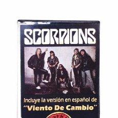 Casetes antiguos: CASSETTE EP SCORPIONS VIENTOS DE CAMBIO EN ESPANOL. Lote 245848055